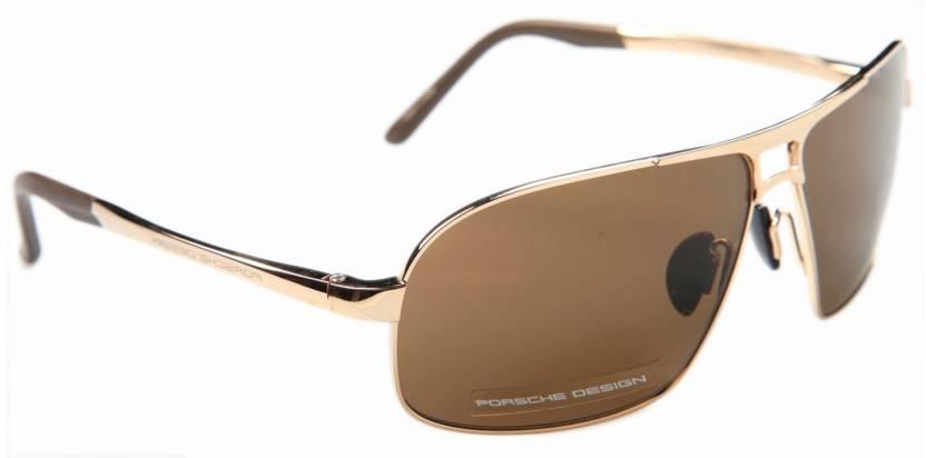 3d0c8ef88c Buy Porsche Design Rectangular Sunglasses Brown For Men   Women ...