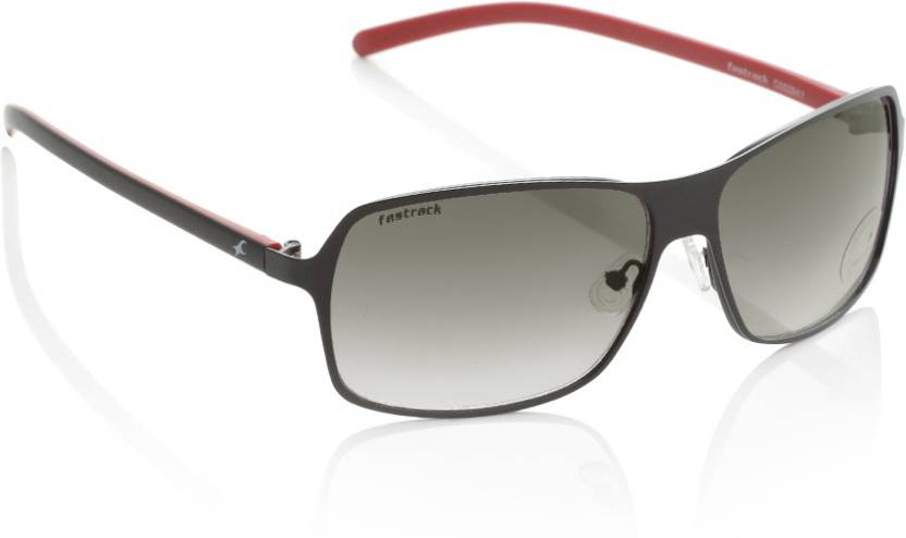 8113a78064 Buy Fastrack Rectangular Sunglasses Grey For Men Online   Best ...