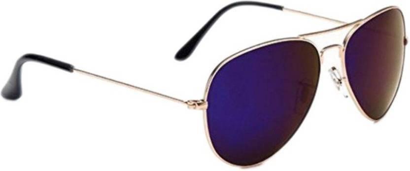 3142bd62d9 Buy Just Style Aviator Sunglasses Blue For Men   Women Online   Best ...