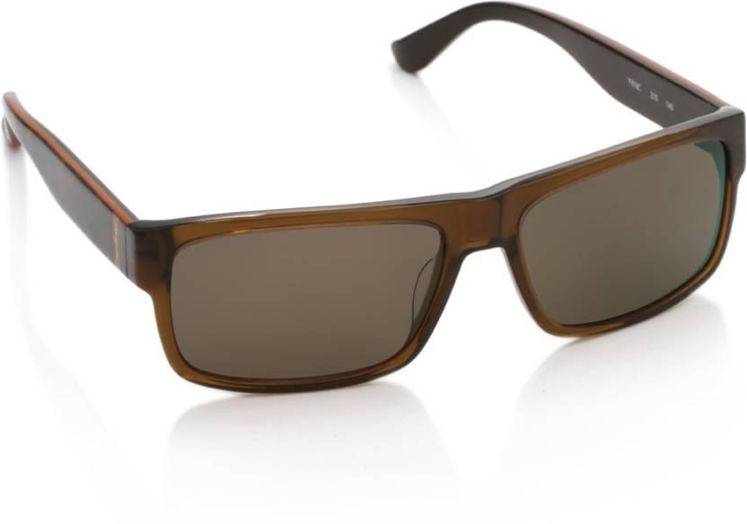 a85719ad5d3 Buy Salvatore Ferragamo Rectangular Sunglasses Brown For Men   Women ...