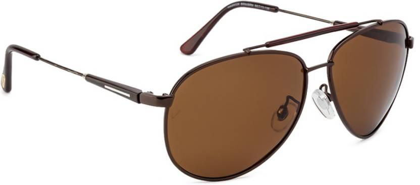 628ede5bb8 Buy Velocity Aviator Sunglasses Brown For Men Online   Best Prices ...