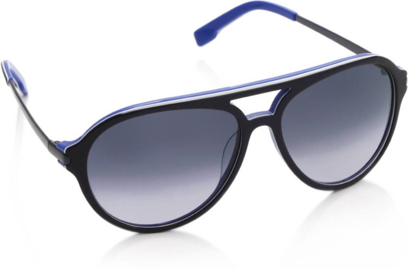 5714d3a026 Buy Lacoste Aviator Sunglasses Blue For Men   Women Online   Best ...