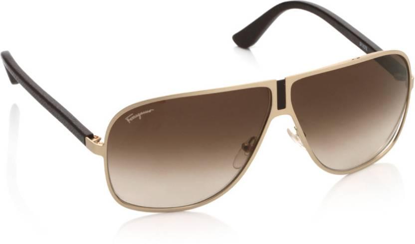 6759fb53c6 Buy Salvatore Ferragamo Aviator Sunglasses Brown For Men   Women ...