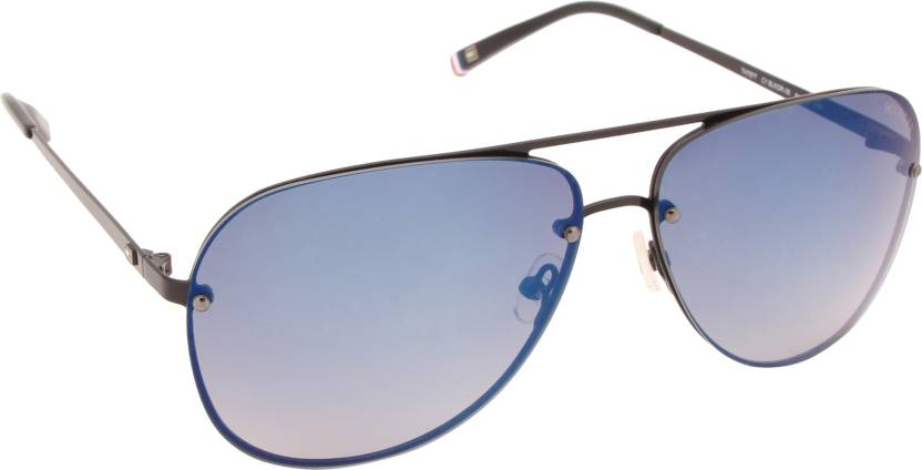 3aec95588a4ac Buy Tommy Hilfiger Aviator Sunglasses Blue For Men   Women Online ...