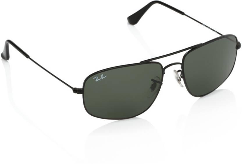 1c106dbf3d02 Buy Ray-Ban Rectangular Sunglasses Green For Men Online   Best ...