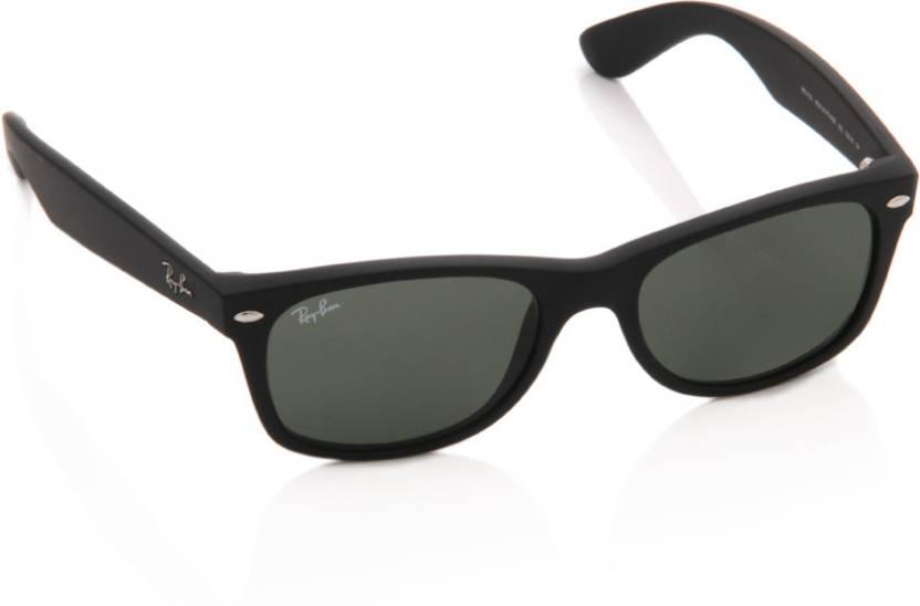 7a93351b50 Buy Ray-Ban Wayfarer Sunglasses Green For Men Online   Best Prices ...