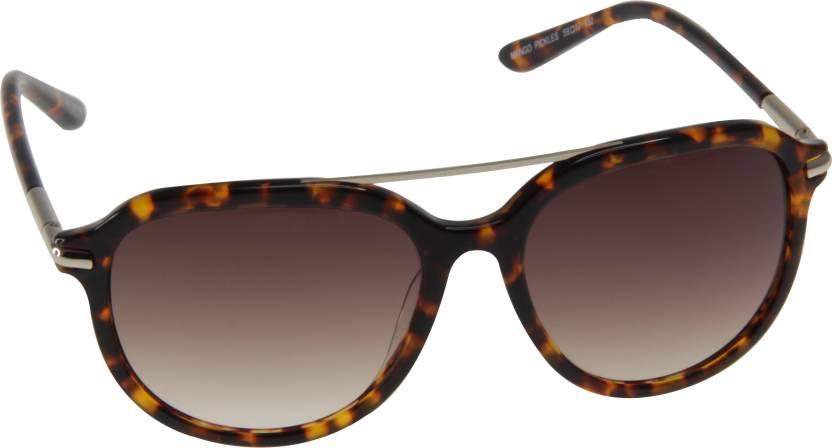 ac203fa4bc9a Buy Mango Pickles Cat-eye Sunglasses Brown For Men & Women Online ...