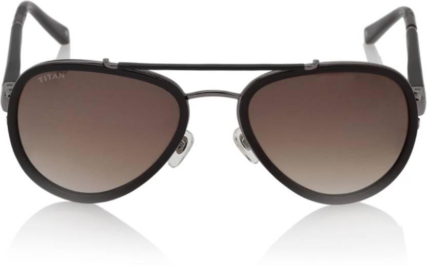 e192510a1565 Buy Titan Aviator Sunglasses Brown For Men & Women Online @ Best ...