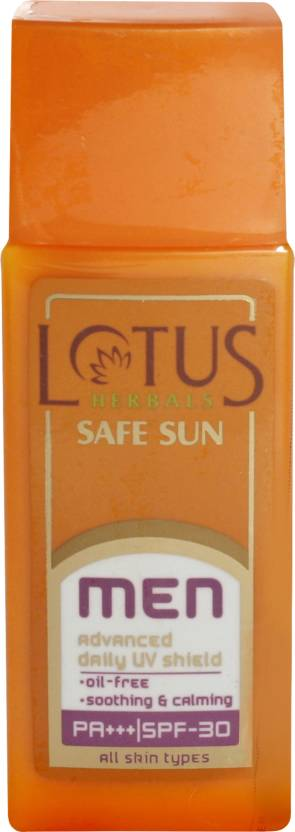 Lotus Safe Sun Men Advanced Daily UV Shield - SPF 30