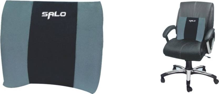 salo orthotics back rest cushion lumbar support free size grey