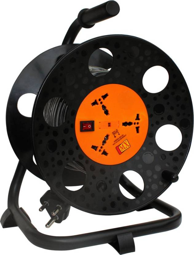 MX Power extension Reel with Universal Sockets 20 Meters Electrical ...