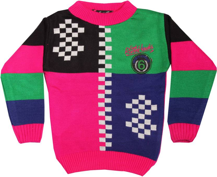 f13d33ab2 Yash Garments Solid Round Neck Boys Multicolor Sweater - Buy Multicolour  Yash Garments Solid Round Neck Boys Multicolor Sweater Online at Best Prices  in ...