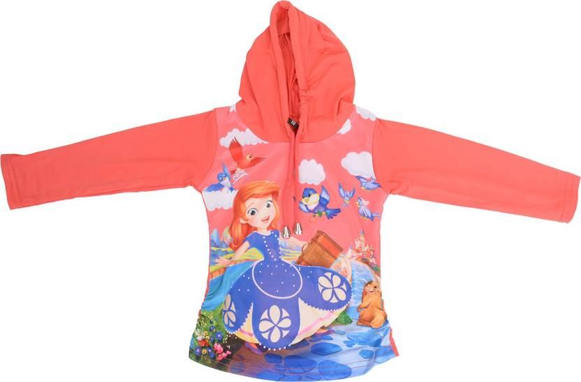 c542c01ca Shopping Karega Solid Scoop Neck Casual Girls Orange Sweater - Buy ...
