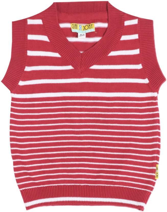 0b78f9a6b Gini   Jony Striped V-neck Casual Baby Boys White