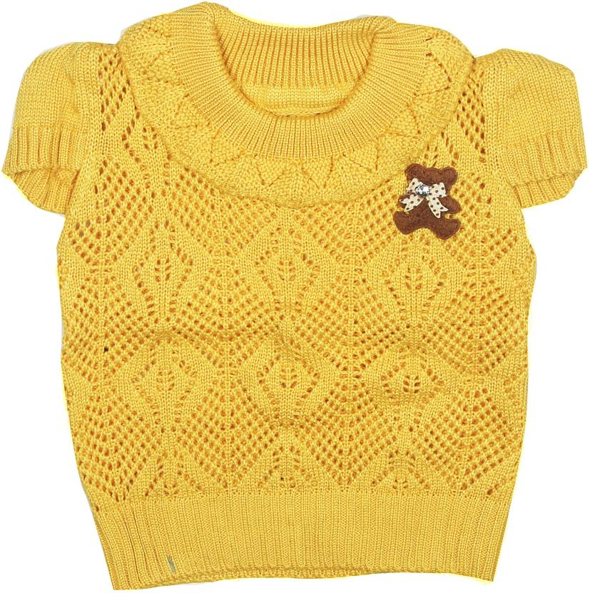104a80194 Camey Self Design Round Neck Casual Baby Girls Red Sweater - Buy Yellow  Camey Self Design Round Neck Casual Baby Girls Red Sweater Online at Best  Prices in ...