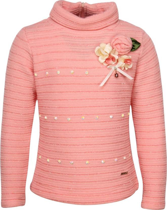 3c554dc20 Cutecumber Solid Round Neck Formal Baby Girls Pink Sweater