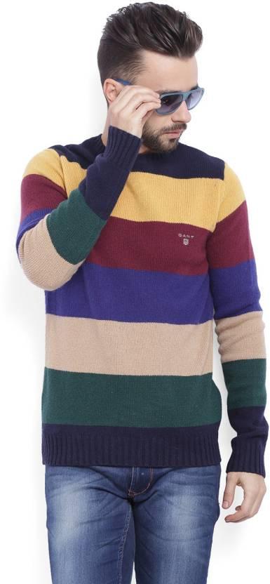 c1dd8c745f Gant Striped Crew Neck Casual Men Multicolor Sweater - Buy ...