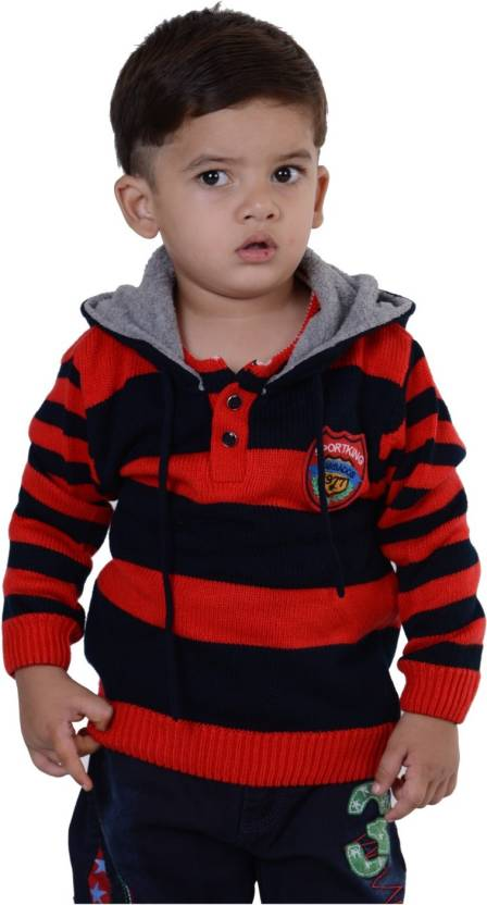 5f9d3f5b7ff3 Sportking Striped Round Neck Casual Baby Girls Red