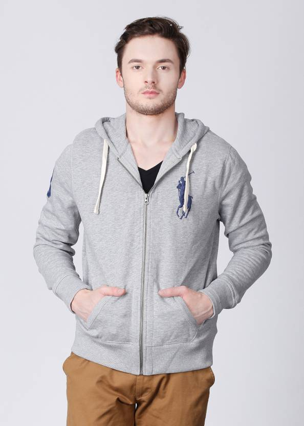 Polo Ralph Lauren Full Sleeve Solid Men s Sweatshirt - Buy Grey Polo Ralph  Lauren Full Sleeve Solid Men s Sweatshirt Online at Best Prices in India ... f0164d204
