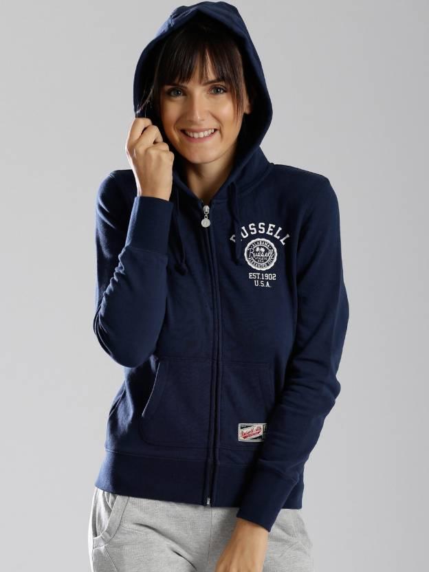 Russell Athletic Full Sleeve Solid Women s Sweatshirt - Buy Dark ... e8042ec8c8