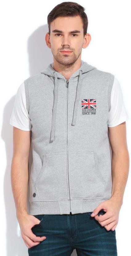 b99347a6a Lee Cooper Sleeveless Solid Men's Sweatshirt - Buy GREY MELANGE Lee Cooper  Sleeveless Solid Men's Sweatshirt Online at Best Prices in India |  Flipkart.com