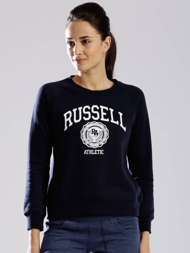 Russell Athletic Full Sleeve Printed Women s Sweatshirt - Buy Dark ... abdebe8f5b