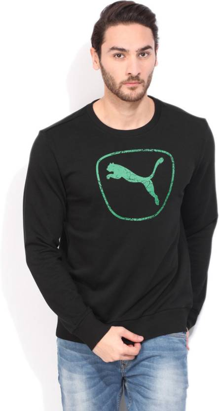 985b7f579b3 Puma Full Sleeve Printed Men's Sweatshirt - Buy Black Puma Full Sleeve  Printed Men's Sweatshirt Online at Best Prices in India | Flipkart.com