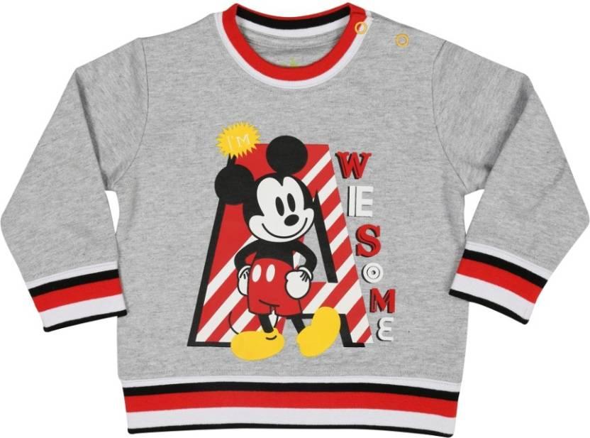 Disney Full Sleeve Printed Baby Boys Sweatshirt Buy Grey Melange