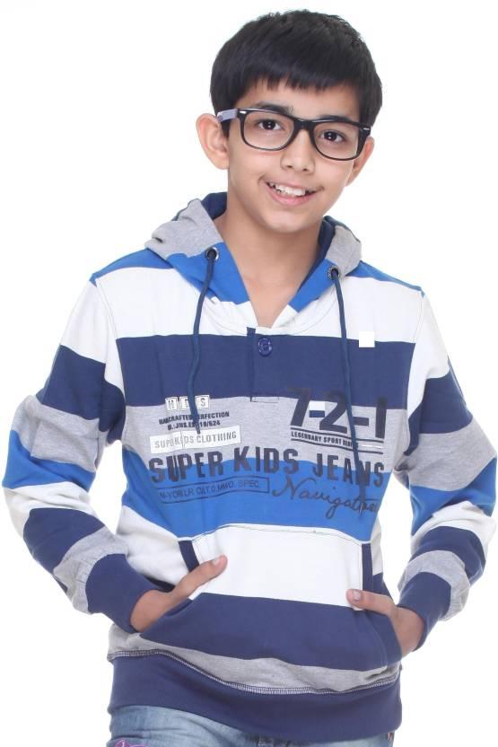 Super Kids Full Sleeve Striped Boys Sweatshirt