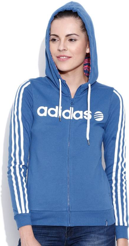 7cc7b1475d1 ADIDAS NEO Full Sleeve Printed Women s Sweatshirt - Buy Blue ADIDAS NEO  Full Sleeve Printed Women s Sweatshirt Online at Best Prices in India