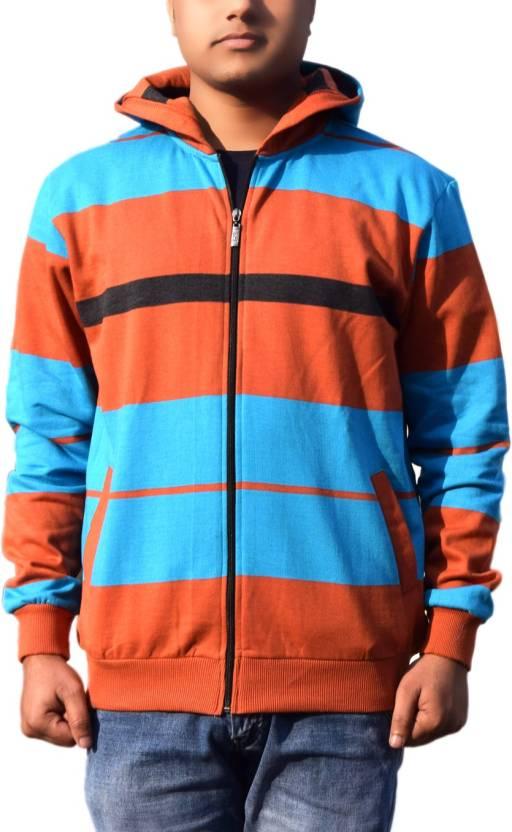 3835215cbc9 One Liner Full Sleeve Striped Men s Sweatshirt - Buy Multicolor One Liner  Full Sleeve Striped Men s Sweatshirt Online at Best Prices in India