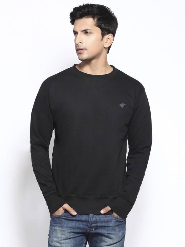 6ec6851d757 Do U Speak Green Full Sleeve Solid Men s Sweatshirt - Buy Black Do U Speak  Green Full Sleeve Solid Men s Sweatshirt Online at Best Prices in India ...