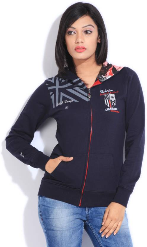 Lee Cooper Full Sleeve Solid Women s Sweatshirt - Buy NAVY Lee Cooper Full  Sleeve Solid Women s Sweatshirt Online at Best Prices in India  6e51d2a03