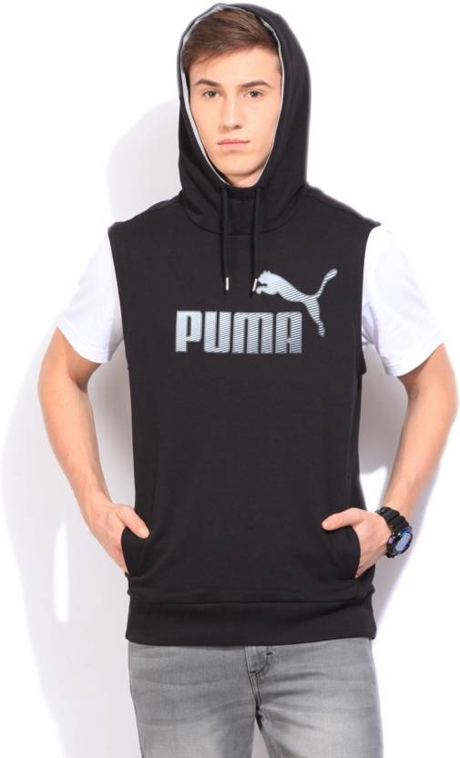 d9c8cacf999 Puma Sleeveless Solid Men's Sweatshirt - Buy Cotton Black Puma Sleeveless  Solid Men's Sweatshirt Online at Best Prices in India | Flipkart.com