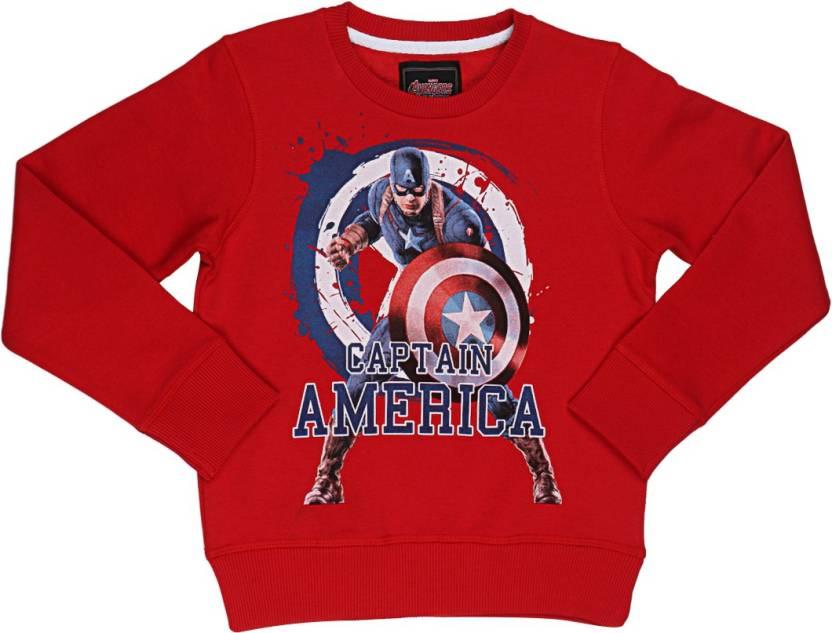 604ec68289a9 Avengers Full Sleeve Printed Boys Sweatshirt - Buy Marvellous Red ...