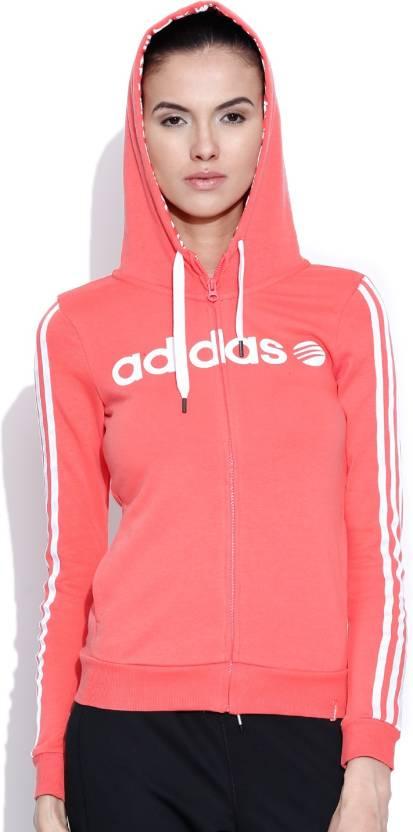 154945d6c27 ADIDAS NEO Full Sleeve Printed Women s Sweatshirt - Buy Pink ADIDAS NEO  Full Sleeve Printed Women s Sweatshirt Online at Best Prices in India