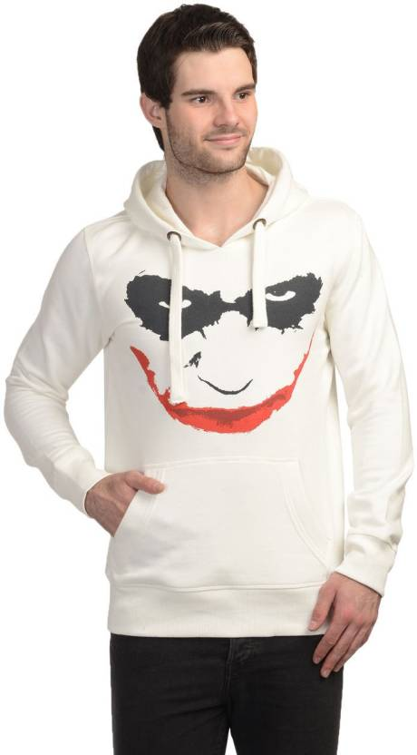 Joker Full Sleeve Printed Men s Sweatshirt - Buy White Joker Full Sleeve  Printed Men s Sweatshirt Online at Best Prices in India  caab4cba879a