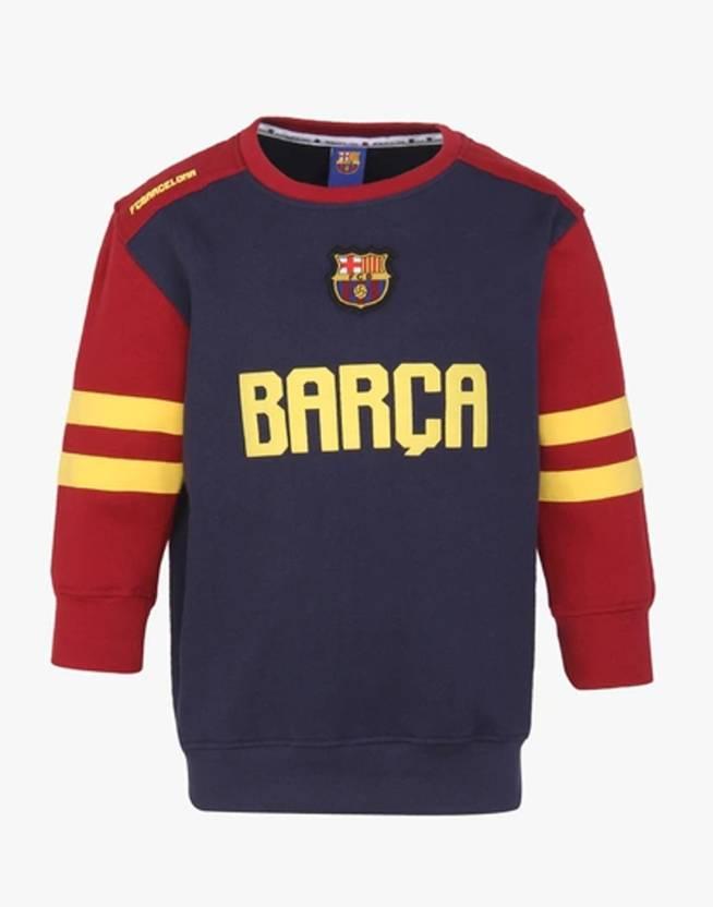 def389de9 FC Barcelona Full Sleeve Printed Boys Sweatshirt - Buy FC Barcelona Full  Sleeve Printed Boys Sweatshirt Online at Best Prices in India