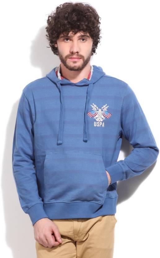 53507ddd U.S. Polo Assn Full Sleeve Striped Men's Sweatshirt - Buy DUTCH BLUE U.S.  Polo Assn Full Sleeve Striped Men's Sweatshirt Online at Best Prices in  India ...