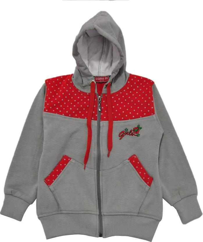 c55b2b61e Come In Kids Full Sleeve Printed Girls Sweatshirt - Buy Grey Come In ...