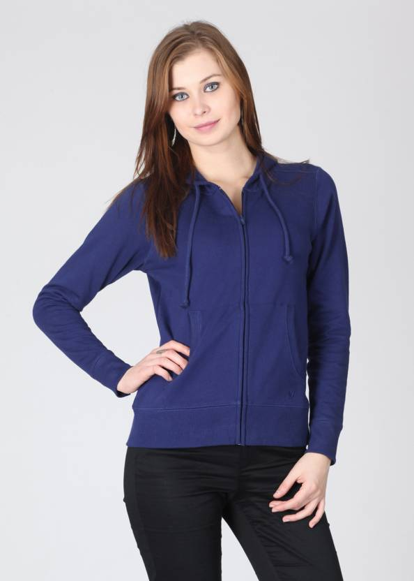 b09c4913eea98 Lee Full Sleeve Solid Women s Sweatshirt - Buy Dark Blue Lee Full ...