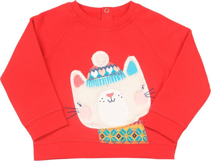 18a1d1a90 Mothercare Full Sleeve Solid Baby Girls Sweatshirt - Buy RED ...