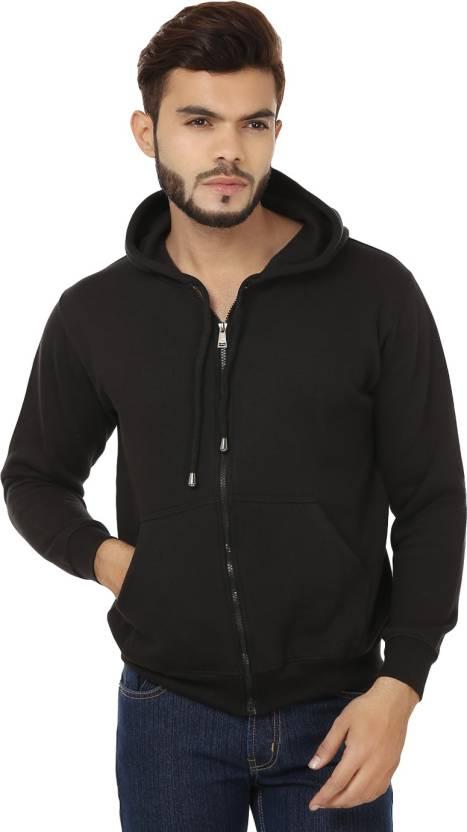 Weardo Full Sleeve Solid Mens Sweatshirt