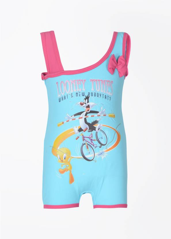 179e366acb Looney Tunes Printed Girls Swimsuit - Buy Turq - Blue Looney Tunes ...