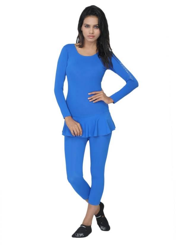 Aquamagica Body Swimsuit Solid Women Swimsuit Buy Blue Aquamagica