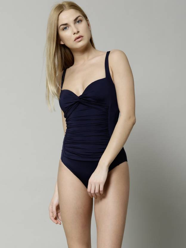 b1ce70339f3c7 Marks & Spencer Solid Women's Swimsuit - Buy Dark Blue Marks & Spencer  Solid Women's Swimsuit Online at Best Prices in India | Flipkart.com