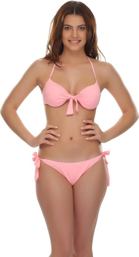 28e3b3848 Clovia Solid Women s Swimsuit - Buy Peach Clovia Solid Women s Swimsuit  Online at Best Prices in India