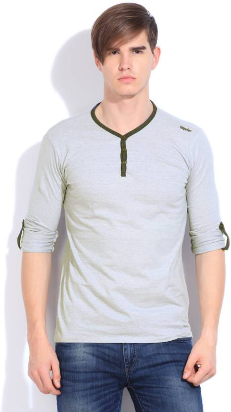 34328d3f Mossimo Solid Men's Henley Grey T-Shirt - Buy OFF-WHITE Mossimo Solid Men's  Henley Grey T-Shirt Online at Best Prices in India | Flipkart.com
