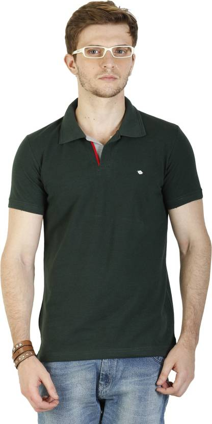 9ba47eec Duke Stardust Solid Men's Polo Neck Dark Green T-Shirt - Buy Forest Grass Duke  Stardust Solid Men's Polo Neck Dark Green T-Shirt Online at Best Prices in  ...