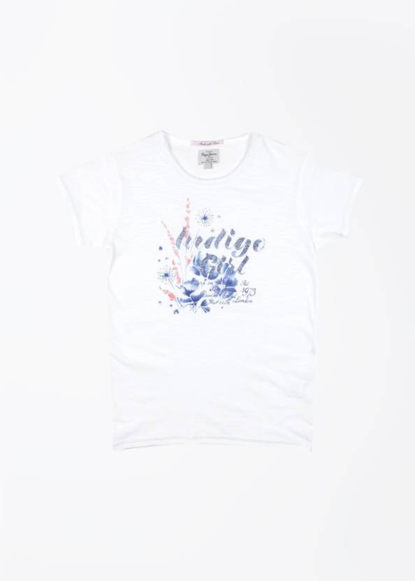 Pepe Jeans Girls Printed T Shirt Price In India Buy Pepe Jeans